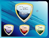 Glossy shields banner vector Royalty Free Stock Photos