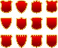 Glossy Shields Set Stock Image