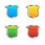 Glossy Shields Stock Photography
