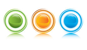 Glossy shiny buttons Royalty Free Stock Photos