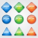 Glossy Shiny Circular Vector Button Stock Image