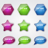Glossy Shiny Circular Vector Button Stock Photography