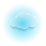 Glossy shiny dream cloud Royalty Free Stock Image