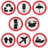 Glossy shipping signs Royalty Free Stock Image