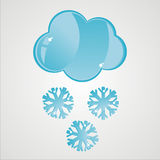 Glossy snow icon Royalty Free Stock Images