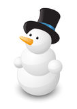 Glossy snowman Stock Photo