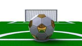 Glossy soccer ball on a white background Royalty Free Stock Image