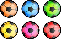 Glossy Soccer Balls Stock Photo