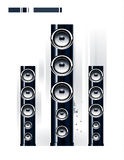 Glossy sound system Royalty Free Stock Image