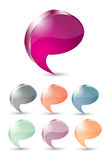 Glossy Speech Bubble Stock Image