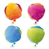 Glossy speech bubble set Royalty Free Stock Image