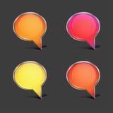 Glossy speech bubbles Stock Photos