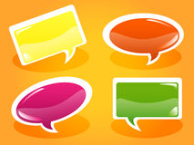 Glossy speech bubbles Stock Images