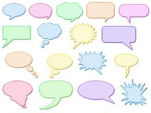 Glossy speech bubbles Stock Photo