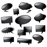 Glossy speech bubbles Royalty Free Stock Image