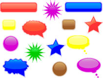 Glossy speech and thought bubbles Royalty Free Stock Images