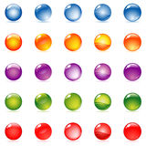 Glossy sphere. Vector glossy sphere in different color and different reflection / refraction type Stock Photo