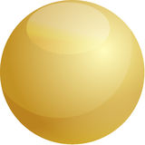 Glossy sphere illustration Royalty Free Stock Photography