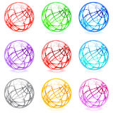 Glossy spheres Royalty Free Stock Images