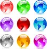Glossy spheres Stock Photo