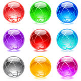 Glossy spheres Stock Photos