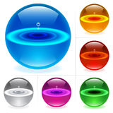 Glossy spheres Stock Image