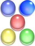 Glossy Spheres Royalty Free Stock Image