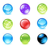Glossy spheres. Vector glossy sphere set 3 Stock Photography