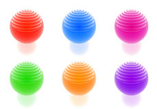 Glossy spheres collection Royalty Free Stock Image