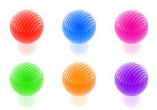 Glossy spheres collection Royalty Free Stock Photos