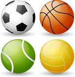 Glossy Sport Ball Set Royalty Free Stock Photo