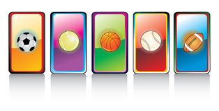 Glossy sports ball  Royalty Free Stock Photography