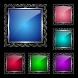 Glossy square frames set Royalty Free Stock Photo