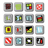 Glossy Square Icons Stock Images