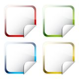 Glossy square stickers Royalty Free Stock Photography