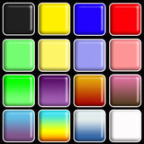 Glossy Squares Royalty Free Stock Photos