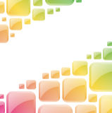 Glossy squares background. Royalty Free Stock Photos