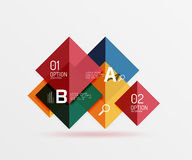 Glossy squares with text, abstract geometric design concept. Vector template background for workflow layout, diagram, number options or web design Royalty Free Stock Photography