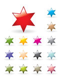 Glossy star collection Stock Photos