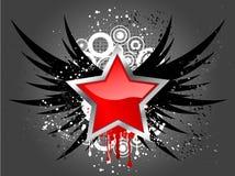 Glossy star on grunge. Background vector illustration