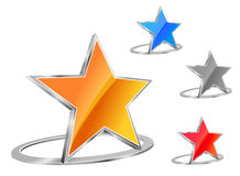 Glossy star icon Stock Photos
