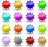 Glossy star icons Royalty Free Stock Photos