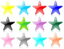 Glossy star set vector Royalty Free Stock Image