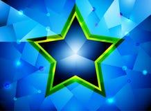 Glossy star shape Royalty Free Stock Image