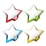 Glossy star stickers Stock Photography