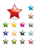 Glossy stars collection Royalty Free Stock Photos