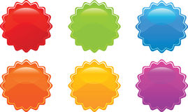 Glossy sticker Royalty Free Stock Images