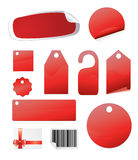 Glossy stickers and tags Royalty Free Stock Image