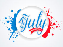Glossy sticky for American Independence Day celebration. Royalty Free Stock Photography