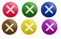 Glossy Stop Button Stock Photo